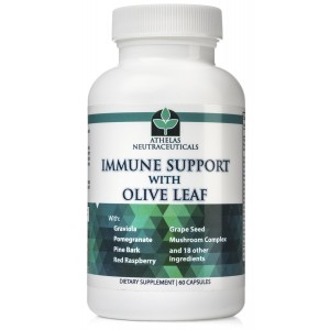 Athelas Neutraceuticals Olive Leaf Extract Complex - Full Spectrum Immune Support - All Natural with Graviola, Red Raspber
