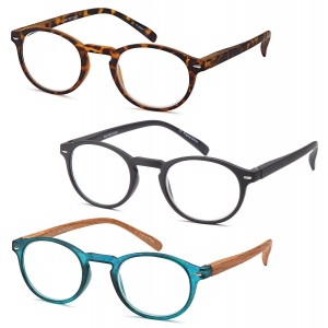 Gamma Ray Optics GAMMA RAY READERS Multiple Pairs of P3 Style Retro Round Readers Quality Spring Hinge Reading Glas