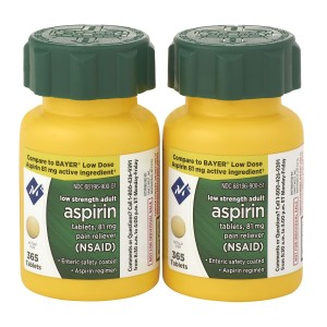 Sam's West Member's Mark Low Strength Adults Enteric Safety Coated Aspirin Regimen Tablets 81mg Pain Reliever