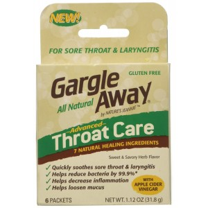 Nature's Jeannie Gargle Away Throat Care, 6-PK