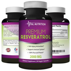 Vital Nutrition Pure Resveratrol - 2000mg  - 90 Capsules
