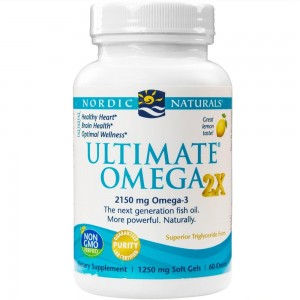 Nordic Naturals - Ultimate Omega 2x, Supports Heart, Brain, and Immune Health, 60 Soft Gels (FFP)
