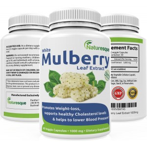 Naturesque White Mulberry Leaf Extract   1000mg   Low Blood Sugar   Rich in Antioxidants and Fiber Helps in W