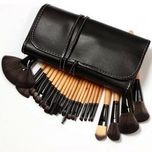 Moonight Professional 24pcs Makeup Brush Set|Makeup Brushes Set - Pro Cosmetic Makeup Brush Set Kit w/ Leather Case - For Eye Shadow, Blush, Concealer