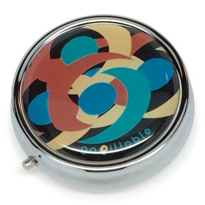 gopillable Midnight Swirl Decorative Pill Box for Pocket or Purse