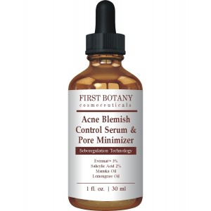 First Botany Cosmeceuticals Acne Blemish Control Serum and Pore Minimizer 1 fl. oz - Best Acne Treatment and Anti Acne Serum, Visibly Reduces Blemishes and Pore Reducer