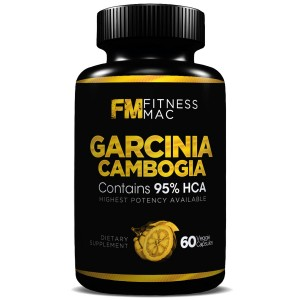 Fitness Mac Pure Garcinia Cambogia Extract with 95% HCA - Appetite Suppressant and Weight Loss Supplement, Mad