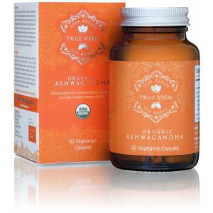 True Organic Ashwagandha Vegetarian Capsules | Certified USDA Organic | 100% Natural Herbal Supplement