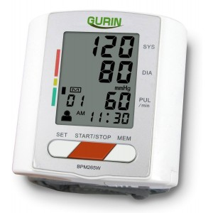 Gurin Professional Wrist Digital Blood pressure Monitor - 2 User with Heart Health and Hypertension Indicator