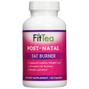 Fit Tea Post Natal Fat Burner - Natural Weight Loss, Body Cleanse and Appetite Control. Proven Weight Loss Formula.