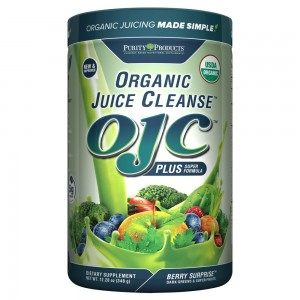 Purity Products - Certified Organic Juice Cleanse - (OJC) Plus - Berry Surprise - New and Improved Extra Large Edition with 5 grams of fiber (12.28 oz - 348 g)...