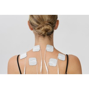 Tens Unit Pads, LuxFit Premium Tens Unit Electrodes Replacement Pads, FDA Approved Tens Unit Replacement Pads. 16 PACK - EMS Gel Pads, Reusable, Long Lasting, Latex Free, Universally Compatible