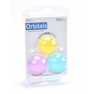 Flint Rehabilitation Devices, LLC Stress Relief Ball: High Quality Hand Exercise Therapy Ball Kit Variable Resistance 3 Pack