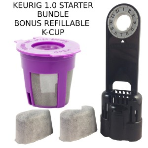 Freedom Brew 2.0 Keurig 1.0 Water Filter Assembly K-Cup Reusable Filter and 2 Replacment water Filter (1)