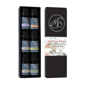 Mystical Breath 100% Pure Essential Oils Collection - Peppermint, Lavender, Frankincense, Bergamot, Ylang Ylang, S
