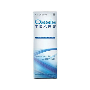 Oasis TEARS Lubricant Eye Drops Bottle Relief For Dry Eyes, 0.34 Ounce