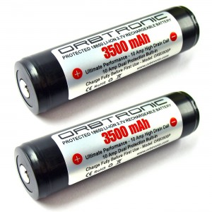 3500mAh 18650 ORBTRONIC Two PROTECTED Rechargeable High Performance Li-ion Batteries 3.7V For High Power 18650 Flashlights - NOT for ecig devices