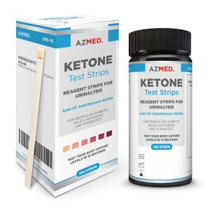AZMED Precise Ketone Measurement Test Strips, For Use in Ketogenic, Diabetic, Paleo and Atkins Diet, 100 Count