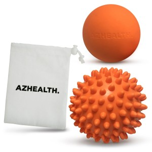 AZHEALTH Lacrosse and Spiky Massage Ball Set for Trigger Point Therapy, Deep Tissue and Muscle Relief, 2 Pack