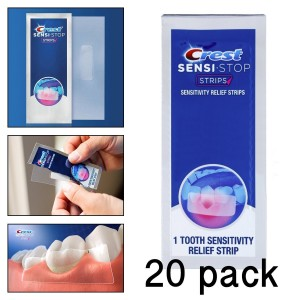 20 Crest Sensi-Stop Strips Tooth Sensitivity Instant Relief Oral Care Treatment