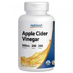 Nutricost Apple Cider Vinegar 500mg; 240 Capsules