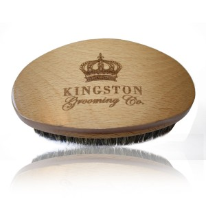 Kingston Grooming Company Kingston Grooming- Professional Quality, 100% Boar Hair Bristle Beard and Hair Brush for Men. Soli