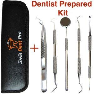 SmileDentPro - Dental tools - MADE BY DENTIST Dental Tools to Remove Plaque Dental Hygiene Kit Set Dental Hand Instruments High Grade  Stainless