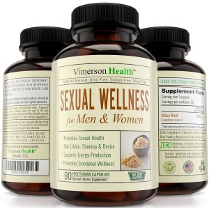 Vimerson Health 90 DAY SUPPLY - Sexual Wellness for Women and Men. The Best 100% All Natural Supplement. Increases