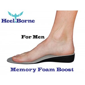 The Memory Foam Boost 3.5 CM (1.4 Inch) Height Increasing Insole by Heelborne Ergonomic Height Increasing Insoles For All Day Wear
