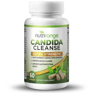 NutriRange Candida Cleanse and Yeast Infection Support - Best Detox Treatment with Caprylic Acid, Enzymes Cel
