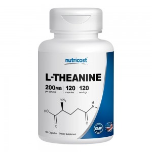 Nutricost L-Theanine 200mg; 120 Capsules - Double Strength