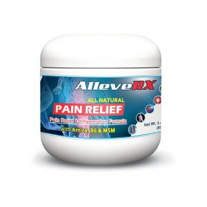 AlleveRX- Pain Relief Cream and Inflammation Formula, 3 Oz. All Natural Pain Relief For Muscles, Joints and Arthritis. Physician Recommended. 3 Oz
