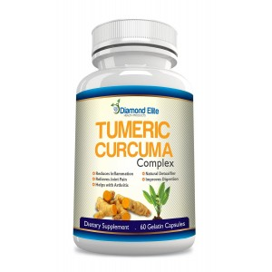 Diamond Elite Health & Beauty Products, LLC Diamond Elite's Premium Turmeric Curcumin 500mg (95% Standardized Curcuminoids) Non GMO, Gluten Fr