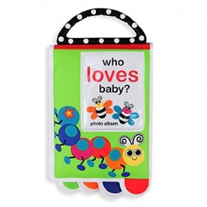 Sassy Who Loves Baby? Photo Album Book with Teether Handle