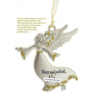 Spoontiques Bless and Protect My Baby - Pewter Ornament Communion Confirmation Gift