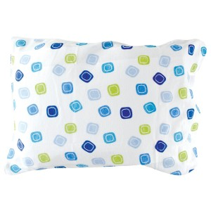 Luvable Friends Infant Pillow Case, Traditional Blue Print