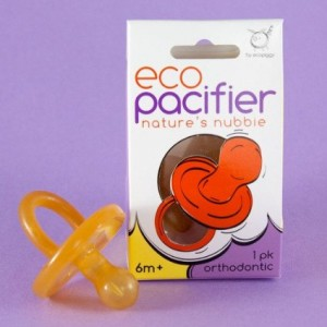 Ecopiggy Ecopacifier NP Natural Rubber Pacifier Style: Orthodontic, Size: 6 Months and up