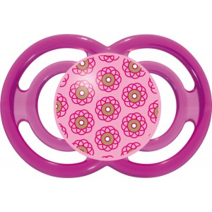 MAM Perfect Silicone Pacifier, Girl, 6 Plus Months, Design may vary