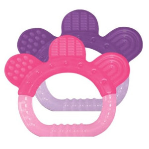 green sprouts 2 Pack Sili Paw Teether, Girl