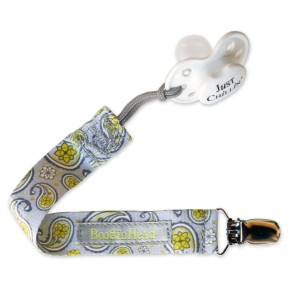 BooginHead PaciGrip Pacifier Holder, Saucy Silver (Discontinued by Manufacturer)