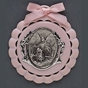 Roman, Inc. Roman Baby Cradle Medal in Gift Box (Pink)