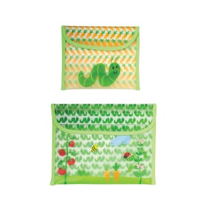 green sprouts Garden Sandwich and Snack Bag, Sage Worm, 3 Months, 2-Count