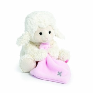 Nat and Jules Jesus Loves Me Musical Plush Lamb with Blanket, Pink