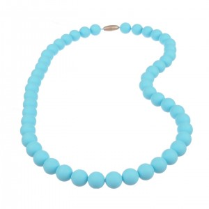 Jelly Strands Kate Baby Teething Necklace Turquoise