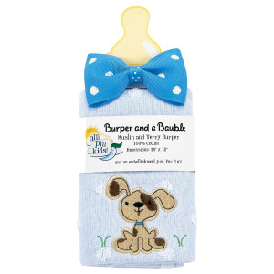 AM PM Kids! Burper and a Bauble Set, Puppy, 2 count