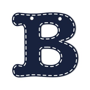 CoCaLo Mix and Match Navy Hanging Letters, B (Discontinued by Manufacturer)