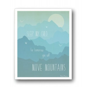 "Children Inspire Design Kid's Wall Art ""Move Mountains"" 11x14 Wall Art Print for Boys, Girls or Baby's Room, Nursery Dec"