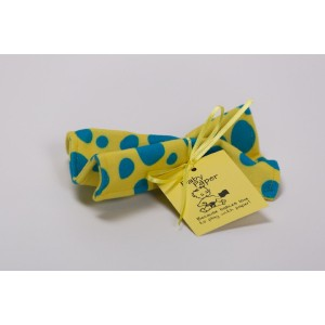 BaPaper Baby Paper - Crinkly Baby Toy - Yellow w/ Blue Dots