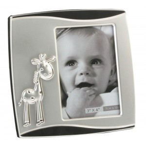 Baby Giraffe Silver Plated Two Tone Photo Frame By Haysom Interiors