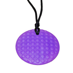 KidKusion Gummi Teething Necklace Dots, Purple